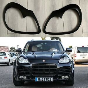 For Porsche Cayenne 955 2003-2006 Headlight Cover Eyelids Eyelashes Eyebrows