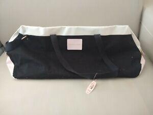 Victoria Secret Duffle Bag Tote Pink White Black Logo $99 NIP