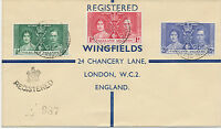 FALKLAND ISLANDS 1937 Coronation R-FDC PORT STANLEY to ENGLAND