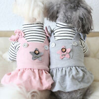 Lovely Warm Pet Dress Small Dog Clothes Winter Cat Yorkie Apparel Coat XS-XL New