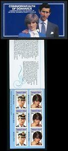 Dominica Scott #705 SA BOOKLET Prince Charles Lady Diana Wedding CV$6+ TH-1