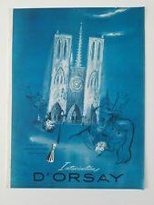 1946 D'Orsary intoxication perfume bottle Paris architecture art vintage ad