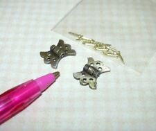 Miniature Fancy Heavy Duty Antiqued Butterfly Hinges (2): Dollhouse 1:12