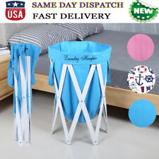 Collapsible & Portable Bathroom Laundry Hamper Basket Dirty Clothes Storage Bag
