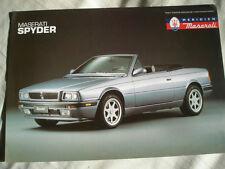 Maserati Spyder brochure c1992