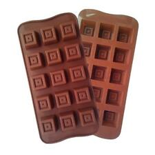 Gift Box Tiered Square Silicone Chocolate Mold Shape Package Ice Cube Mould