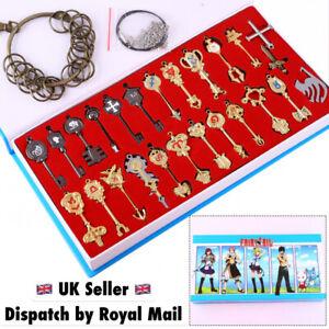 Fairy Tail Celestial Keys Lucy Heartfilia Cosplay Boxset 25 keys Necklace