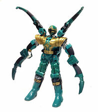 "Power Rangers NINJA STORM 6"" GREEN SPIDER TRANSFORMER action figure toy RARE"