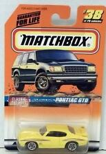 MATCHBOX PONTIAC GTO #38 YELLOW MINT ON CARD DIECAST 1998