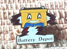 Battery Depot lapel pin pre-owned car automotive industrial replacement company