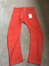 Men's Humor Santiago Chino Red Clay Jeans rrp £75 Size 34 New With Tags