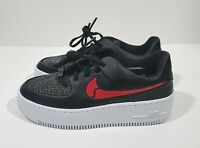 Nike Air Force 1 Low Valentines Day Womens Shoes Black Red Silver Size 10