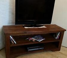 Rustic Plank Furniture Real Solid Wood Pine TV Stand Cabinet Entertainment Unit