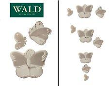 Orologio da parete shabby, contemporaneo, farfalle 3 pz componibile, Wald design