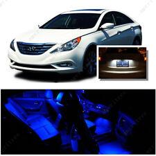 For Hyundai Sonata w/o sunroof 11-14 Blue LED Interior Kit + White License Light