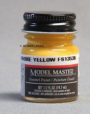 TESTORS PAINT MODEL MASTER CHROME YELLOW ENAMEL 1/2oz 14.7ml  NEW 1707