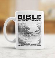 Emergency Bible Numbers Coffee Mug Bible Mug Bible Gift Religious Gift Mug