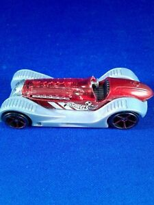 Hot Wheels Brit Speed Vehicle grey and Red Loose Pre-owned