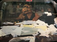 Vintage Rare Alf Tv Tray 1989 Papers
