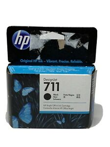 HP 711 | DesignJet Ink Cartridge | Black | 80-ml CZ133A Genuine- Factory Sealed