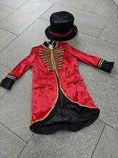 H&M 4-6 yrs Jacket & Hat Circus Ringmaster The Greatest Showman Dress Up Costume