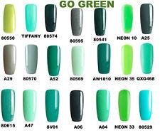 BLUESKY GEL POLISH GREEN NAIL UV LED CHOOSE YOUR GREEN, ANY 2 = FREE FILE +WIPES