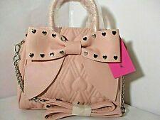 Betsey Johnson Pink Shoulder Crossbody Women's Quilted Satchel  handbag  purse