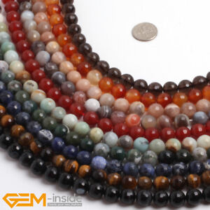 Assorted Round 10mm Smooth Gemstone Loose Beads For Jewellery Making Strand 15''