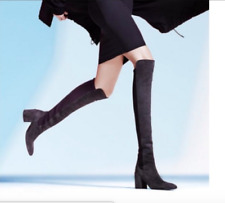 Stuart Weitzman Black Halftime Suede Over the Knee Boots- 11 M -NEW