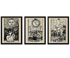 Set of 3 Tarot Prints, Gift, Gifts, Wallart, Poster, Posters