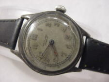 Vintage STERLING SILVER large antique WWII World War II MILITARY ROO mens watch