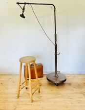 More details for super rare 1930s copper and brass floor standing stage microphone & stand