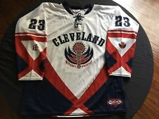 Michael Brantley Hockey Style Jersey L Large Speedline Cleveland Indians MLB