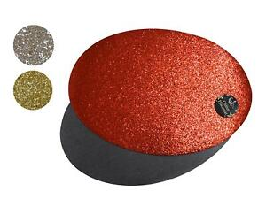 6/12 Placemats Set Christmas Silver Gold Red Glitter Oval Festive Xmas Table