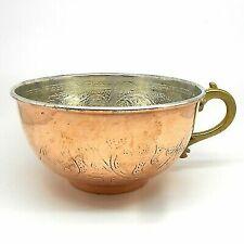 Copper Shaving Bowl Mug Cup for Shaving Brush and Safety Razor.