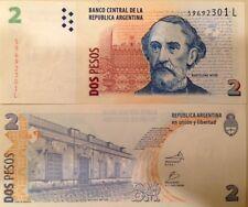 ARGENTINA 2013 2 PESOS UNCIRCULATED BANKNOTE P-352 BARTOLOME MITRE USA SELLER !!