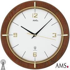 AMS 38 Orologio parete radio color noce DORATI stampato Vetro minerale 985