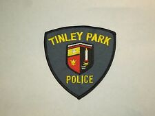 Vintage Tinley Park Illinois Police Dept. Embroidered Iron On Patch