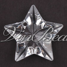 Clear 48*48mm 48pcs Acrylic Star Pendant Diamond Chunky Beads Jewelry Necklace