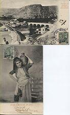 Deutsche Post in der Türkei 2 sehr schöne Souvenir-Karten echt gelaufen!(B05543)