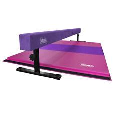 12-18in High Adjustable Gymnastics Beam 4ft X 6ft Pink and Purple Gymnastics Mat