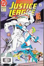 JUSTICE LEAGUE: EUROPE  #38 1992 DC ''ART ATTACK'' JONES/ ELLIOTT...VF