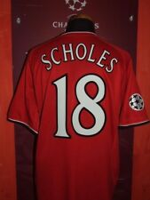 SCHOLES 2000/2001 MANCHESTER UNITED MAGLIA SHIRT CALCIO FOOTBALL MAILLOT JERSEY