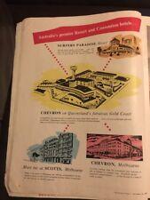 Chevron Hotels Gold Coast Queensland Original 1950s Vintage Print Advertising