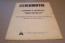 Kubota Owners Manual Powering Steering Unit Model B9185