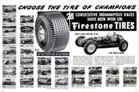 1951 Firestone tires PRINT AD Indy Winners 1922-1950