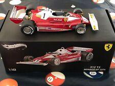 Hot Wheels 1:18 1976 Niki Lauda Signed Scuderia Ferrari F1 Monaco Winner 312 T2
