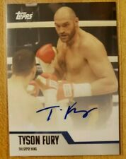 Tyson Fury Gypsy King Signed Auto 2020 Topps Card Autograph