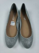 American Eagle Flat Ballerina Shoes From Payless Girl Kids  Silve Glitter Size 6