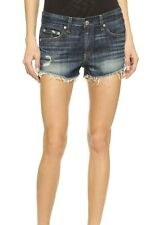 Rag & Bone/JEAN Cutoff Distressed Denim Shorts Wales Wash NWT $165 25